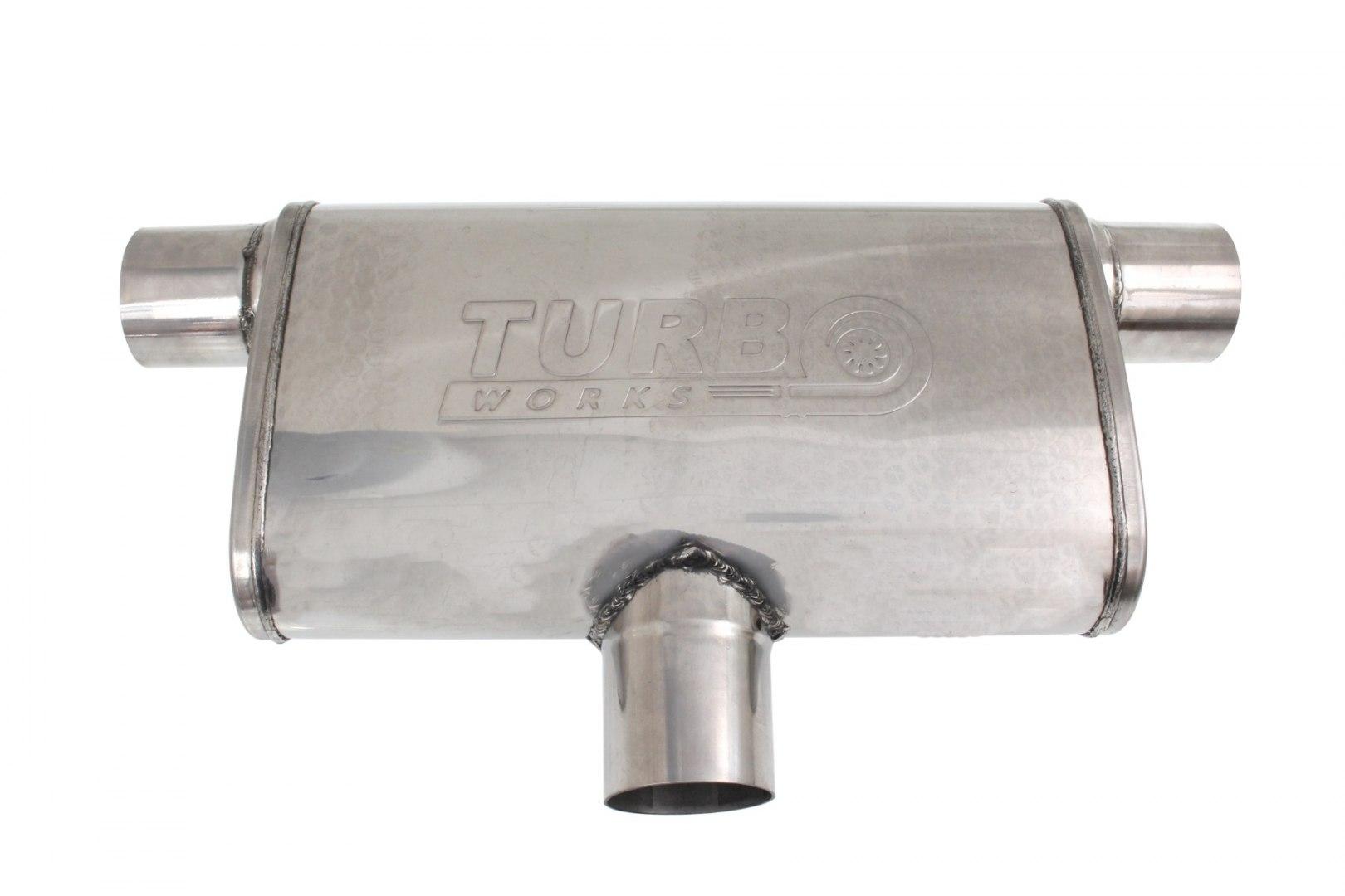 Tłumik Środkowy Tylny 70mm TurboWorks LT 304SS - GRUBYGARAGE - Sklep Tuningowy
